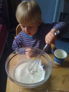 Beware of splattering cream all over the place.
