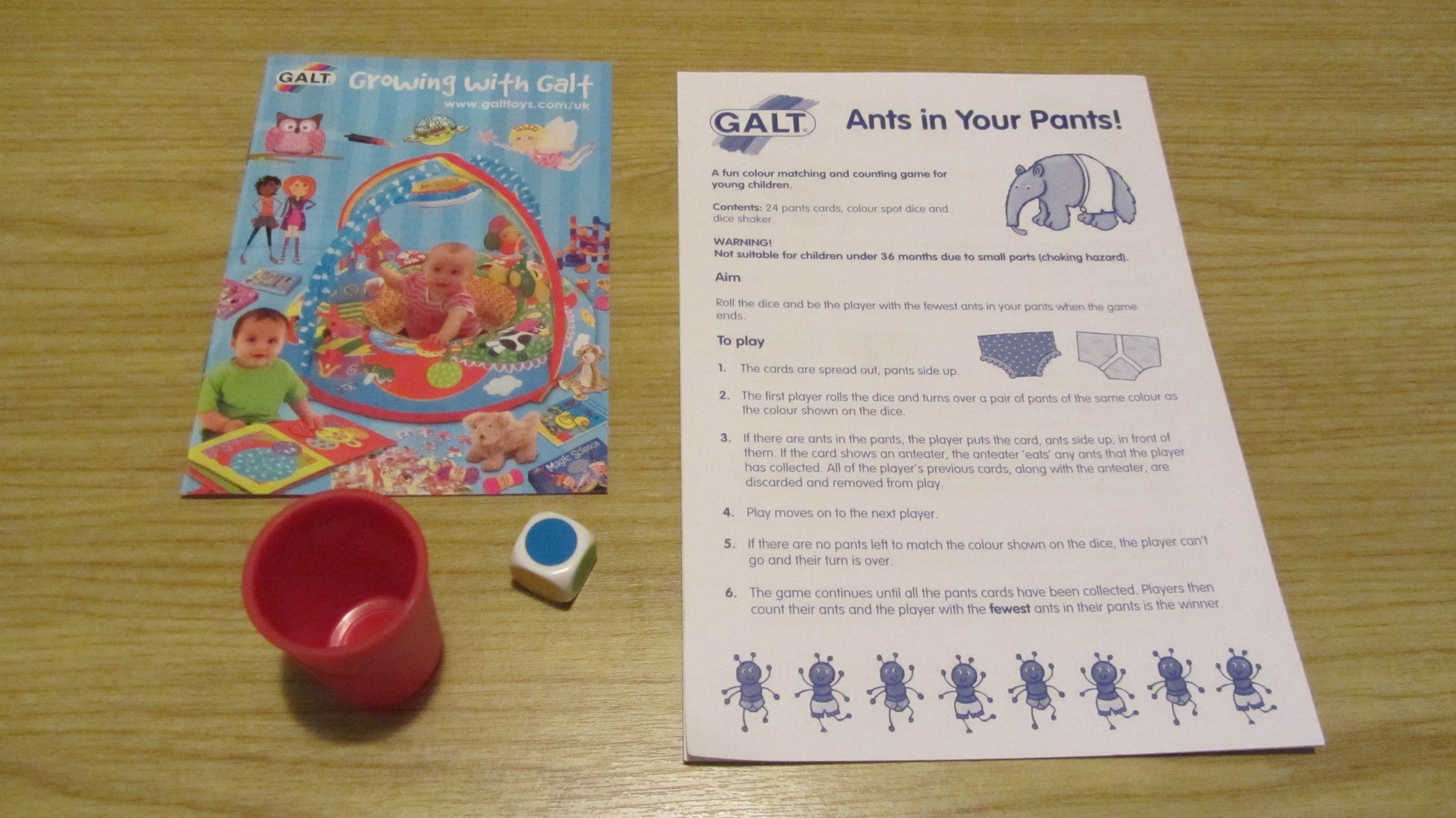 ants in the pants game instructions