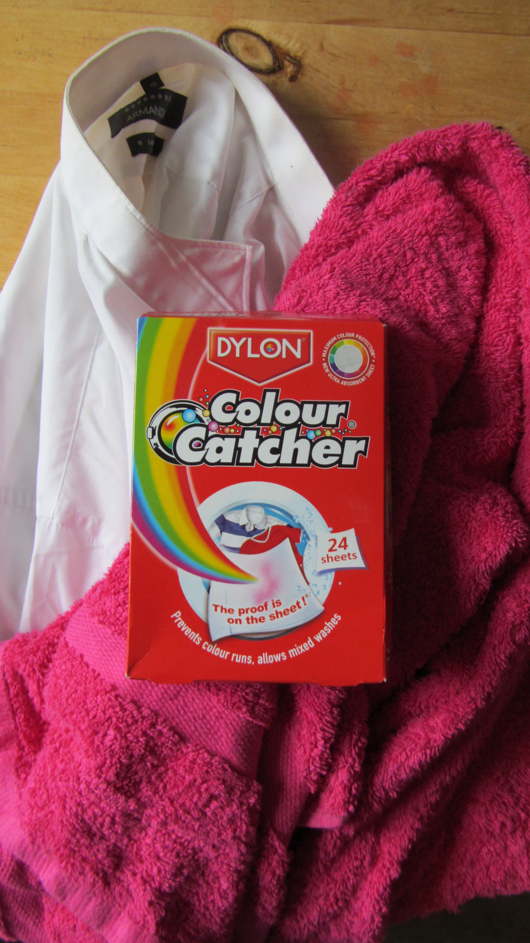 Colour catcher sheets - The Colours Are Clashing Even Before They Get Into The Washing Machine Terribly Bad Tempered They Are