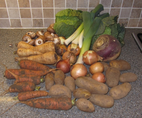 Here is the veg for this week, every veg bag contains basics such as potatoes, carrots and onions for example along with seasonal treats such as asparagus for example.