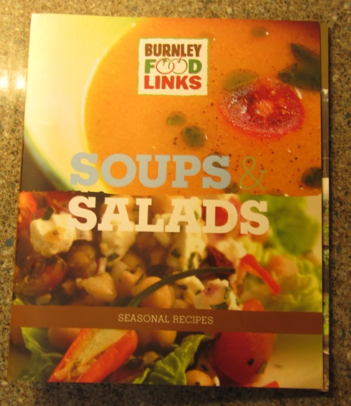 As I was a new customer this recipe book was included.  It contained practical soup recipes and other ways to use veg.  Each section featured a different month and recipes related to seasonal veg available at that time.