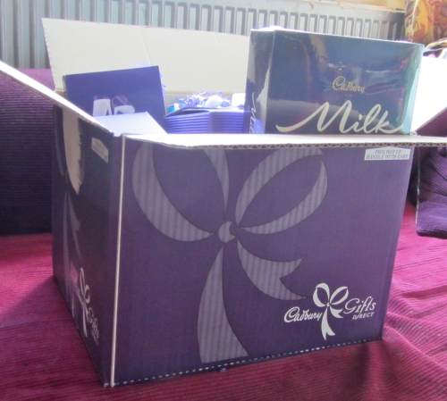 Thanks to the Ana Mum Diary blog comp, we had even more chocolate goodies delivered.  Cadburys, we LOVE you!