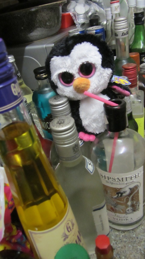 This penguin would like to say thank you for all your donations, unfortunately he's drunk so he can't string a sentence together so I'm saying thank you on his behalf..