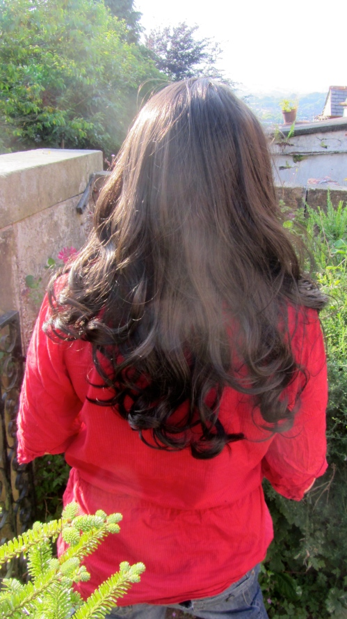 The back of the wig.  I love the curls and the waves.