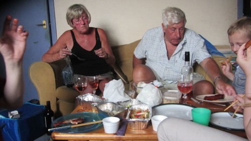 Mum and Dad tried prawn toast for the very first time, both agreed that the toast didn't have any prawns in and were a bit puzzled I think.