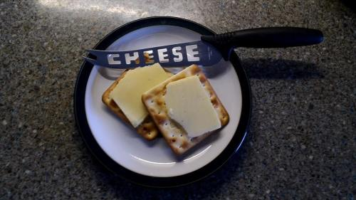 A favourite bedtime supper.  'More cheese Grommit?'