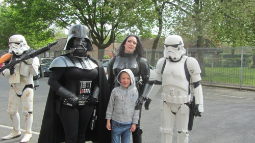 Darth Vader and his minions tried to arrest Sausage but he escaped!